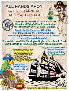 2019 Halloween Gala Flyer