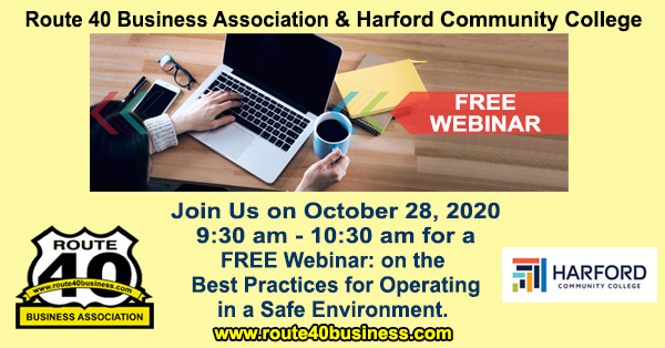 Rt 40 Business Association - Free Webinar Best Practices for Operating in a Safe Environment