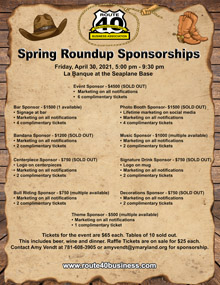 Rt 40 Spring Roundup Sponsorships Flyer